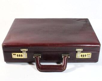 Vintage Franzen Genuine Brown Leather Vintage Briefcase