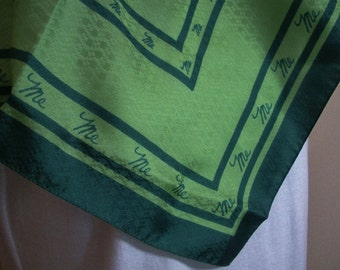 Vintage Italy Mr. Emperor Green Scarf - All About Me