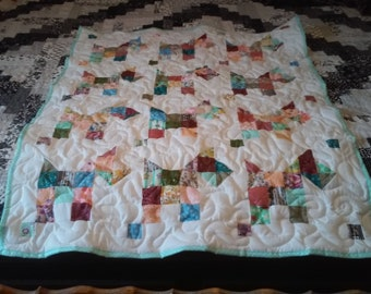 Handmade Scotty Dog Baby Quilt
