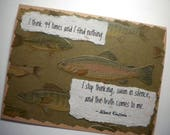 SWIMMING IN SILENCE ~ Inspirational greeting card, quote by Albert Einstein