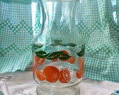 Vintage Orange Juice Carafe, Anchor Hocking, with lid, includes FREE Shipping in US
