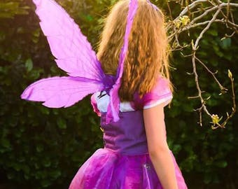 Child sized purple pixie wings