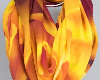 Scarf, Shawl, Bridal Party, Wedding Wrap.  Abstract Floral Photography.  Tangerine Dream Design.