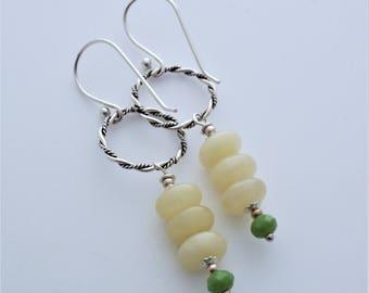 SALE WAS 24.99 Honey Jasper Sterling Silver Beaded Earrings EE Designs