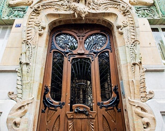 Door Photography, Paris Decor, Paris Print, Paris Photography, Travel Photography, Paris Apartment Home Decor - Paris Art Nouveau Doors