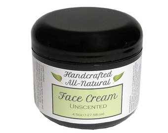 Natural, Vegan, Face Cream, Unscented, Dye Free, Moisturizer, Face Butter, Contains Shea Butter and Jojoba Oil, Creamy NOT Greasy