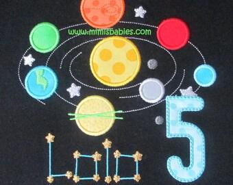 Solar System Birthday Shirt  Planet Birthday Shirt Earth and Moon Birthday Shirt
