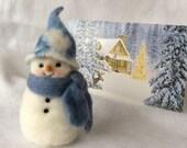 Needle Felt Wool Snowman Home Decor