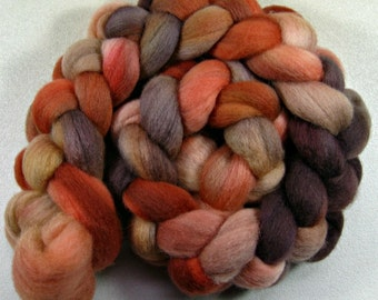 Apricot Cinder 2 Falkland wool top for spinning and felting (4.1 ounces)