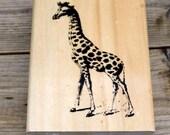 Anita's Wood Mounted Rubber Stamp Home Giraffe