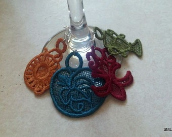 Wine Glass marker charm set
