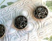 Set of 4, Vintage Metal, Butterfly Buttons, Insect Buttons, Flower Buttons,  Animal CHARITY DONATION