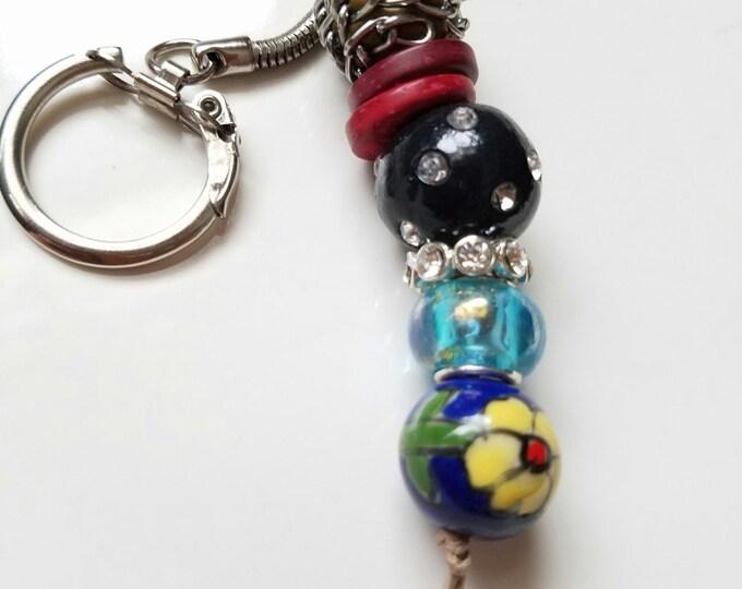 keychains, beaded keychain, bead purse charm, handmade keychain, gift for her, boho keychain, boho bag charm, beads keychain, bag accessory