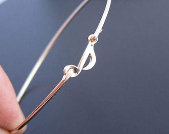 Music Note Bracelet - Gold, Music Note Bangle Bracelet, Musician Gift, Music Note Jewelry, Gift for Music Teacher, Gift for Music Lover