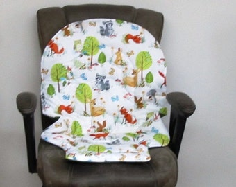 Duo diner high chair pad, Graco Blossom pad, baby accessory replacement pad, chair cushion, kids feeding chair,nursery design,forest fellows