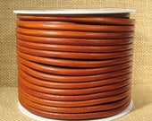 25% Off Spring Sale High End Portuguese 5mm Round Leather - Whiskey - 5Rp-2 - Choose Your Length