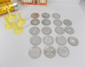 Marcato Cookie Press Ampia Biscuits Vintage Made in Italy with Original Box 4 Decorator Tips 18 Discs