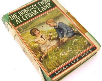 the bobbsey twins at cedar camp  ...  vintage book circa 1921   ...    laura lee hope