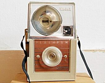 Vintage Kodak Flashfun Hawkeye Retro Camera from 1968 Midcentury Modern Design