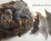 Gorgeous Gray with Brown Ends Washed/Separated Wool Locks for Primitive Doll Hair-Witches Halloween Wool Doll Hair 1 Full Ounce
