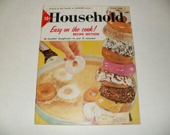 Vintage Household Magazine October 1958  - Fashion, Retro Vintage Ads, Scrapbooking, Paper Ephemera