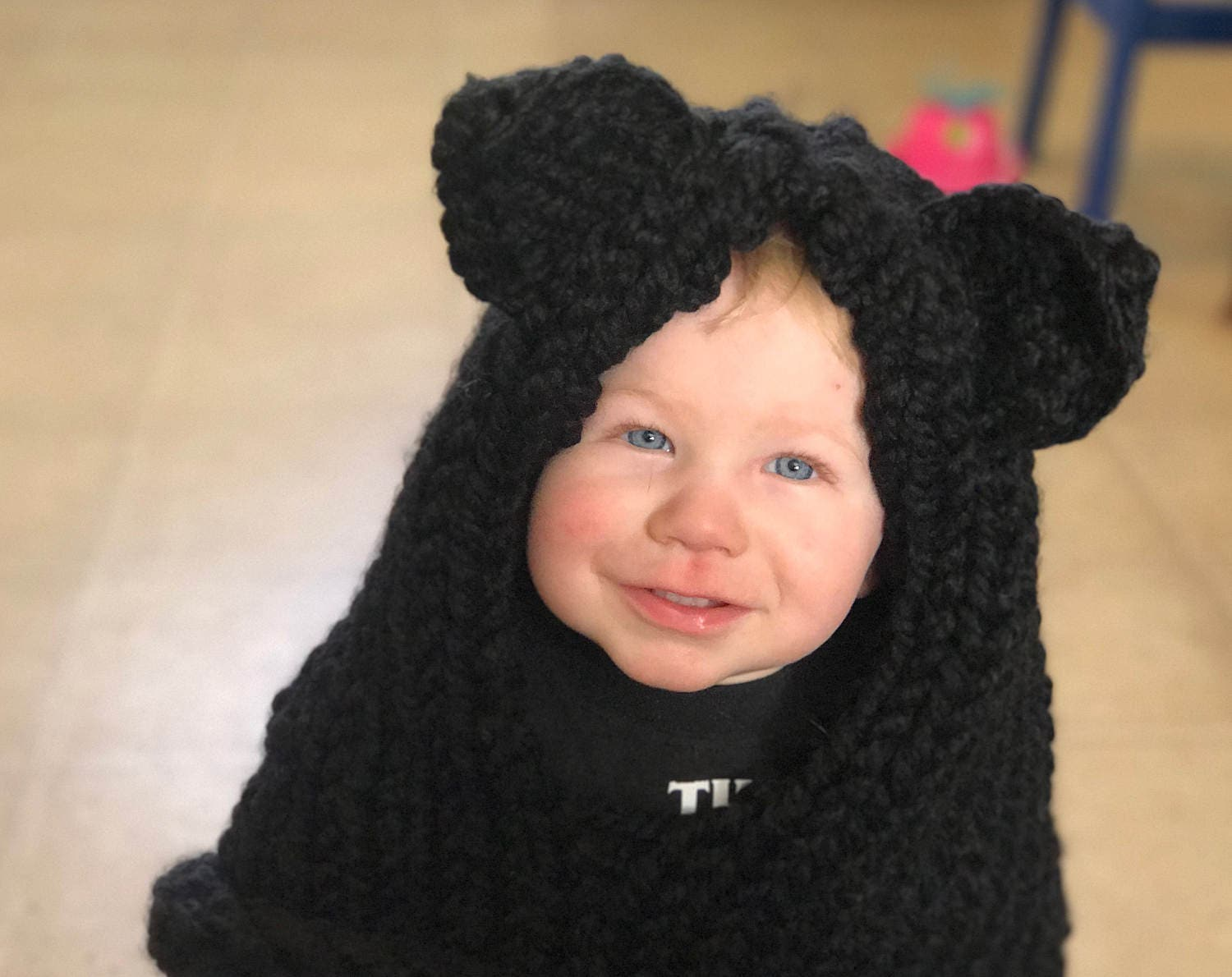Knit cat hood for kids or adults