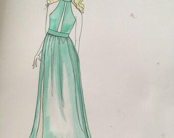 Custom Dress with personalized sketch