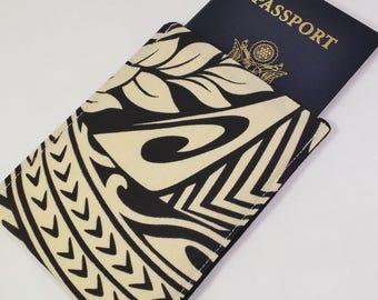RFID Blocking Passport Sleeve Cover, Passport Protection, Stylish Fabric RFID Passport Holder, Nickel Free, RFID Shielding Aluminum Lining