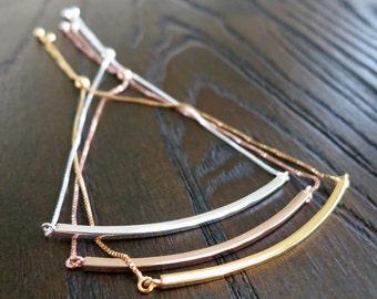Sterling Silver Bar Friendship Bolo Bracelet Adjustable SALE!  Sliding clasp