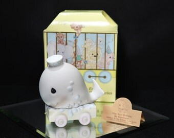 1991  Precious Moments Birthday Train // 10 Year Old // Enesco Precious Moments Birthday Train