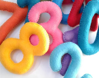 Toys, Felt Numbers, Learning Numbers, learning toys, Educational Toy, Felt numbers, soft felt toys, Big numbers, Soft toys