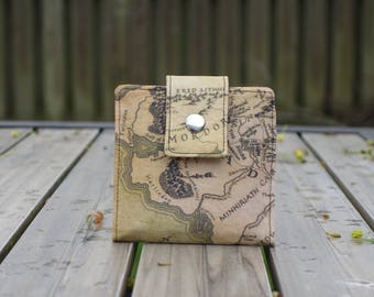 Vegan wallet, small wallet,  Lord of the Rings wallet,  women's wallet,   LOTR, slim wallet, wallets for women, thin wallet