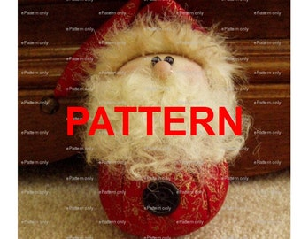 Santa Ornament PATTERN Tutorial Instant Digital Download PDF Roly Poly epattern by Happy Valley Primitives