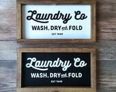 Laundry Co - Fixer Upper Inspired Farmhouse Sign Joanna Gaines