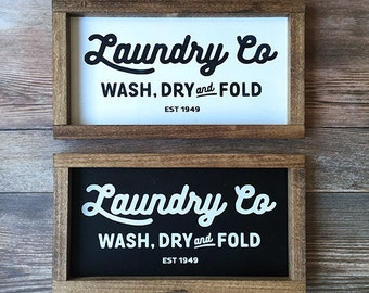 Laundry Co - Fixer Upper Inspired Farmhouse Sign Joanna Gaines
