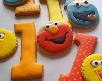 Sesame Street Sugar Cookies