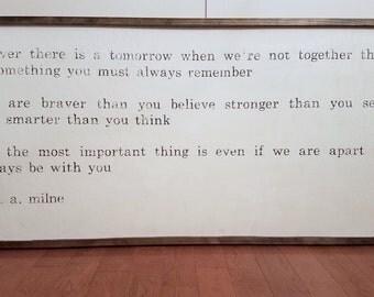 A. A. Milne Quote by DavisDesignMarket
