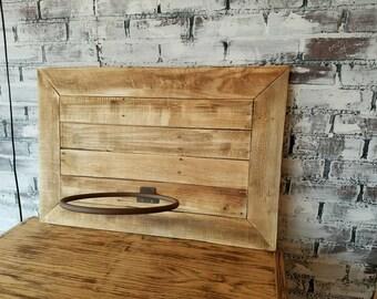 Rustic Basketball Backboard and Rim - Fixer Upper Style