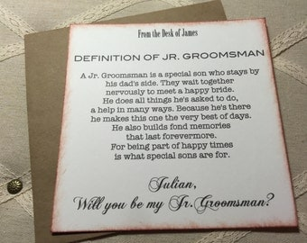 Junior Groomsman Card, Will You Be My Junior Groomsman Proposal, Ask Groomsman, Jr Groomsman Invitation