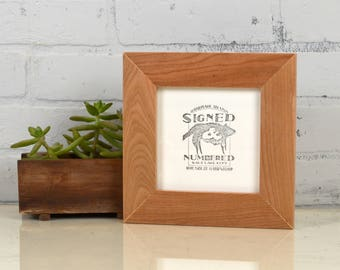 """5x5"""" Picture Frame in 1.5"""" wide Style Solid Natural Cherry Wood - IN STOCK - Same Day Shipping - 5 x 5 Frame - Wedding frame 5 x 5 inches"""