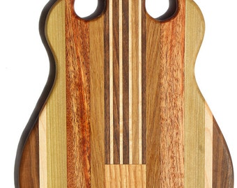 Small Guitar - Gibson SG shaped cutting board made to order