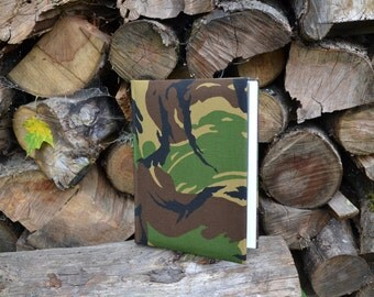 Writing Journal /  Handmade Sketchbook / Handmade Journal / Unique Journal /  Notebook /  Diary /  A5. 8 x 6 inch Military Camouflage