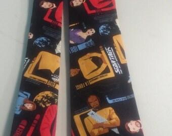 Star Trek Next Generation Neckties in bow tie, skinny tie or standard tie styles in kids or adult sizes