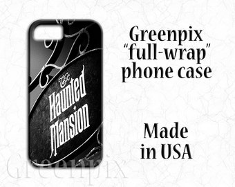 Disney iPhone case, Disney iPhone 7 case, Disney iPhone 7+ case, Disney iPhone 7 Plus case, Haunted Mansion, Disneyworld, black and white