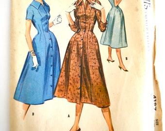 Vintage 1950's McCall's Misses Dress Pattern Size 12 UNCUT