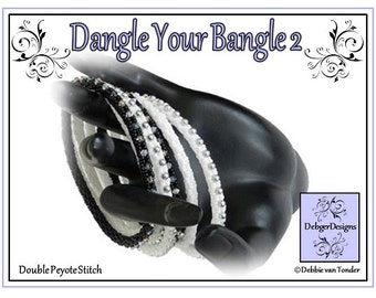 Beading Pattern, Tutorial, Double Peyote, Bangle - DANGLE YOUR BANGLE 2