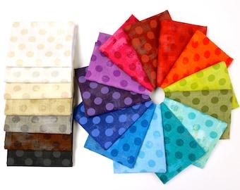 Grunge Basics {Polka Dot} - Fat Quarter Bundle by Basic Grey 20 Fabrics - Great Stash Builder!