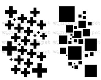 MiniMoley Stencil Set - Geometric