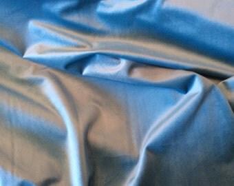 VIVID AQUA Bright Turquoise Soft VELVET Upholstery Fabric,29-22-04-1016