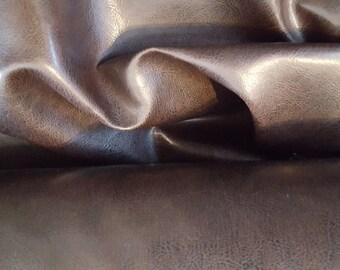 Dark CHOCOLATE BROWN VINYL Upholstery Fabric, 32-76-07-0914